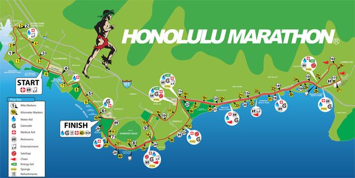 Trasa Honolulu Marathon
