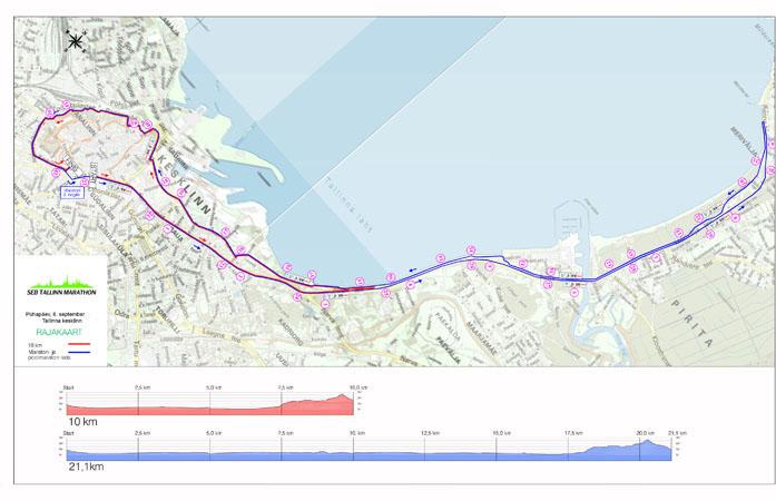 trasa maratonu, półmaratonu i bigu na 10 km (2014 r.)