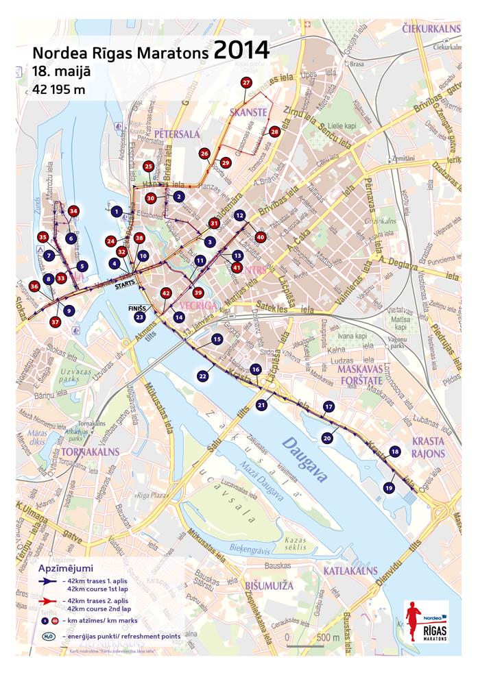 Trasa maratonu i półmaratonu 2014