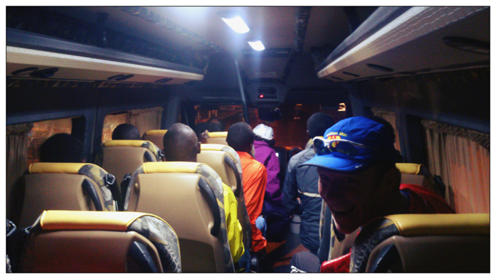 Jedzie z nami w busie zwycięzca Tel Aviv Samsung Marathon 2014.