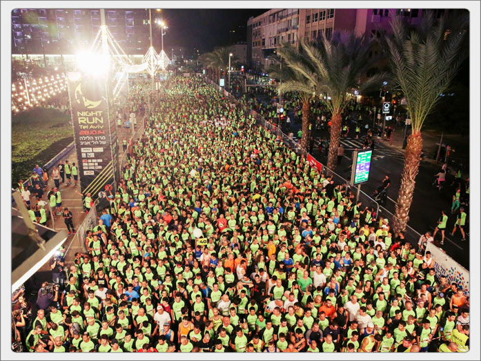 Tel Aviv Night Run (fot. Ronen Topelberg)