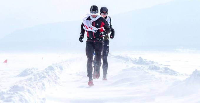 Łukasz Zdanowski podczas Ice Baikal Marathon