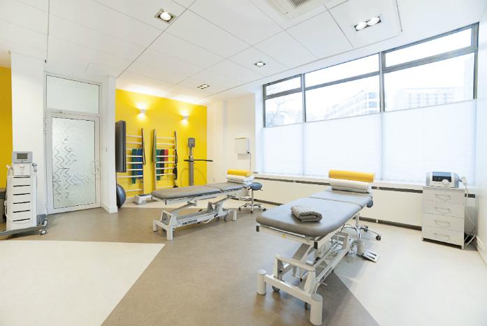 Jedna z sal rehabilitacyjnych w CRS Clinic