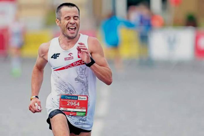 Piotr Rosiak na trasie półmaratonu / fot. archiwum prywatne