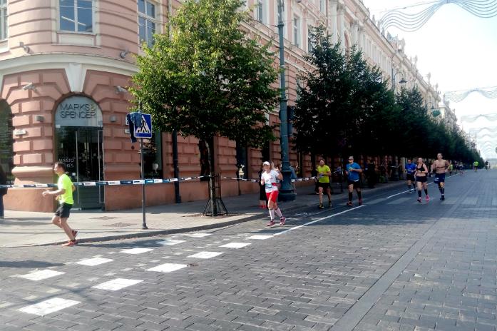 Anna na trasie maratonu