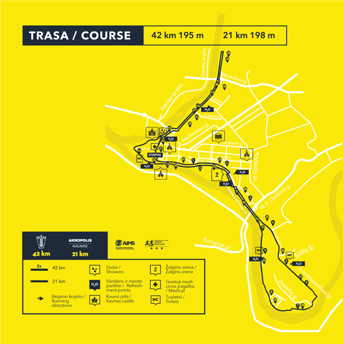 Trasa maratonu i półmaratonu