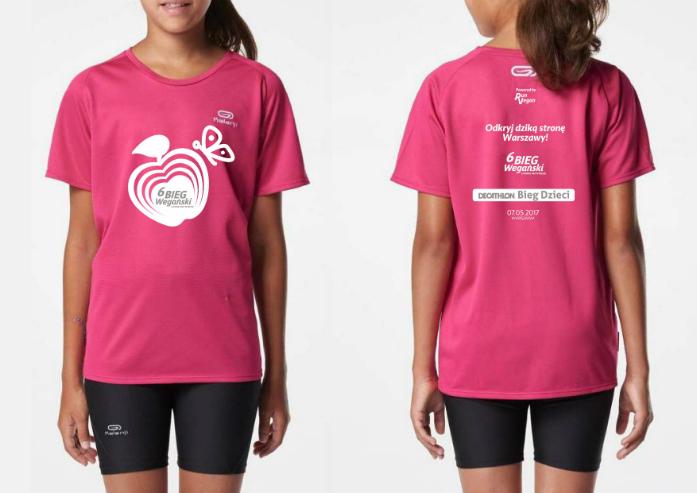 koszulka 6BW Decathlon Bieg Dzieci