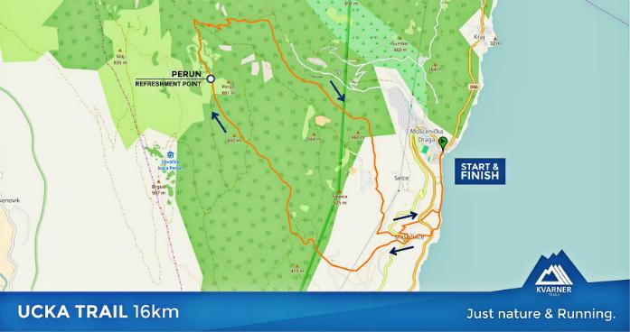 Trasa Ucka Trail 16 km