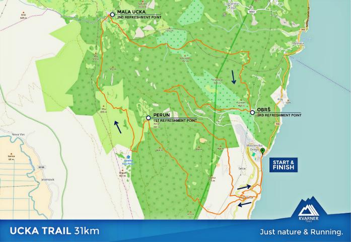Trasa Ucka Trail 31 km