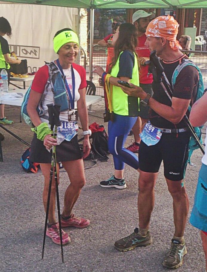 Natalia Haczyk i Jarosław Haczyk na mecie Ultra Sierra Nevada 100 km / fot. Andrzej Gałązka