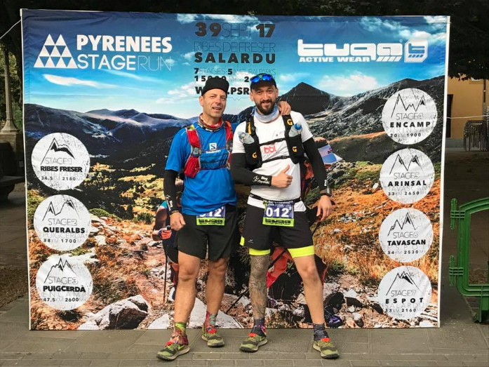 Artur Góralczyk i Mieczysław Król - pierwszy polski team który ukończył Perenees Stage Run / fot. Jordi Santacana