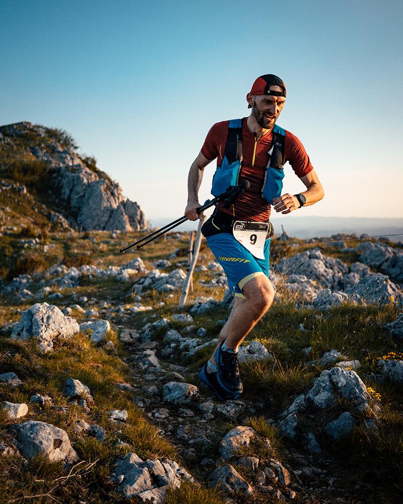 Jarek Gonczarenko na trasie Ultra Trail Vipva Valley