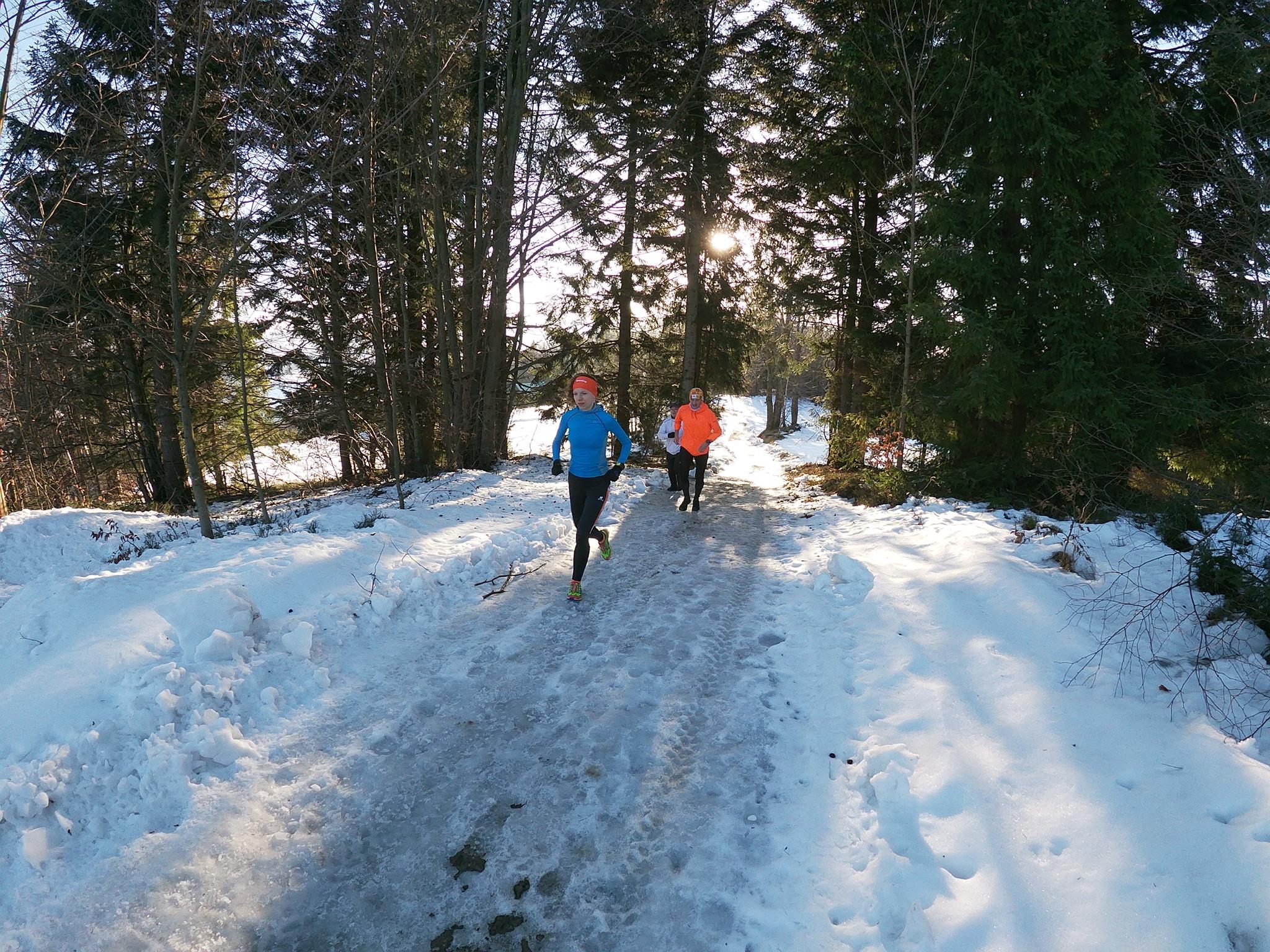 Agnieszka Markiewicz podczas obozu biegowego organizowanego przez Obozy Górskie