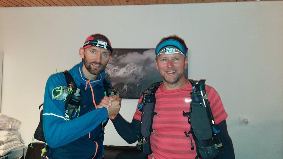 Na zdjęciu Jarek Gonczarenko i Sebastian Hulbój przed startem w UTMR 2021