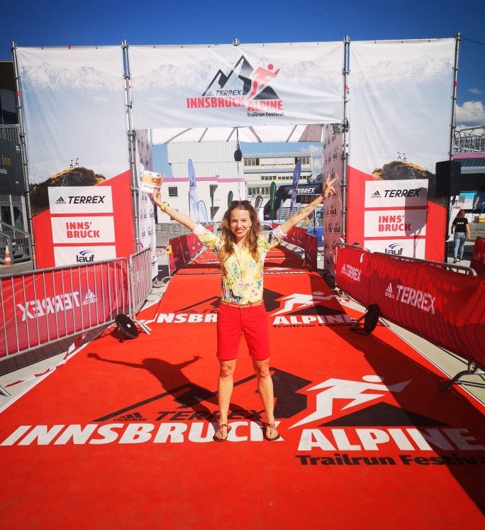 Agnieszka Markiewicz przed startem w Innsbruck Alpine Trailrun Festival 2021